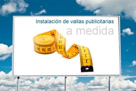 Instalador de vallas publicitarias en propiedad